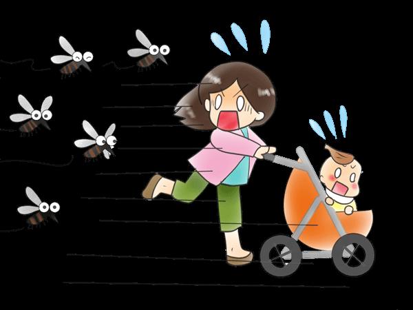 赤ちゃんを蚊から守る!けど殺虫剤からも守りたい!