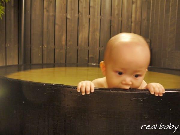赤ちゃんと温泉