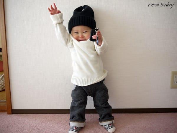 近所の雪遊び服装